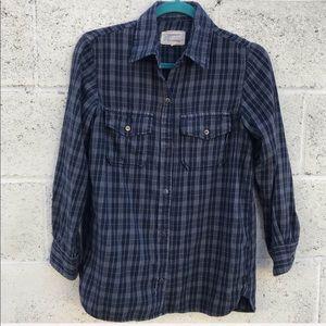 CURRENT ELLIOT plaid button down shirt